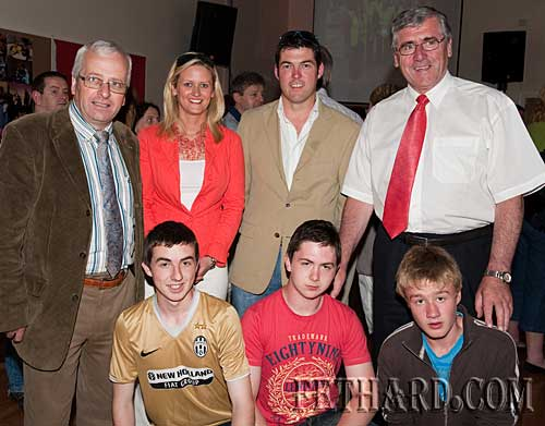 Photographed at the official opening of Fethard Youth Centre are Back L to R: Mattie McGrath T.D., Cllr. Siobhán Ambrose, Cllr. Jimmy O'Brien, Tom Hayes T.D. Front L to R: Gavin Lonergan, Ted Barrett and Jamie Walsh