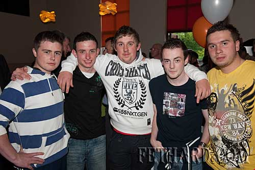 L to R: Jonathan Fleming, Owen Prout, Kevin Hayes, Adam O'Donnell and Matthew Fitzgerald.