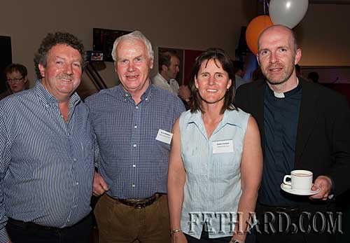 L to R: Matty Tynan, Davy Woodlock, Bobbi Holohan and Fr. Anthony McSweeney.