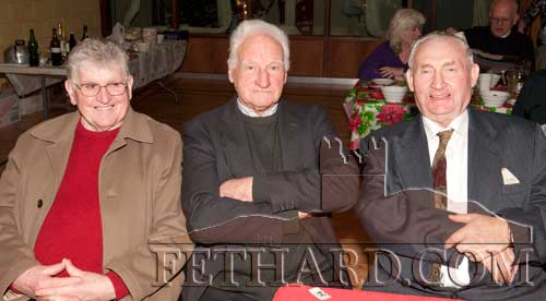 Photographed at the Moyglass Christmas Party are L to R: Paddy Martin, Jim Costigan and Sean Stapleton