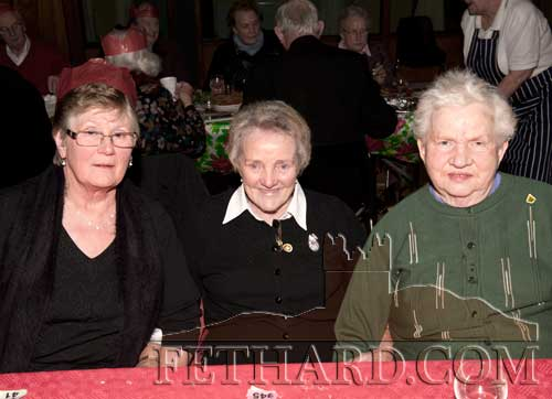 Photographed at the Moyglass Christmas Party are L to R: Rena Lawrence, Peggy Brett and Breda O'Dwyer