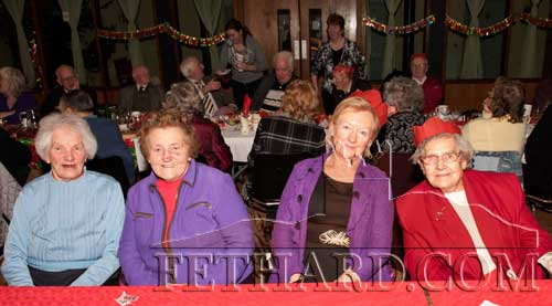 Photographed at the Moyglass Christmas Party are L to R: Patricia Lalor, Tess Maher, Georgina Cleary and Molly Cleary
