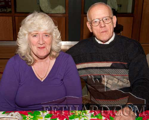 Photographed at the Moyglass Christmas Party are L to R: Mary Williams and Reg Boardman