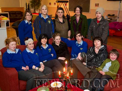 Group photographed at the launch of 'Composition and Context' photographic project at Fethard Youth Centre. Included are artist Ms Pat Looby and Sally O'Leary, Arts Officer, South Tipperary County Council.