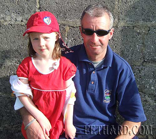 Marty Davey and his daughter Emily photographed at Fethard and Killusty Community games athletics