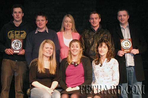 Cast as pictured back row left to right: Noel Clancy, Michael Moclair, Una Shanahan, David Ryan, Michael Manley. Front Row: Leah McNamara, Ann Marie Kennedy, Anne Kennedy