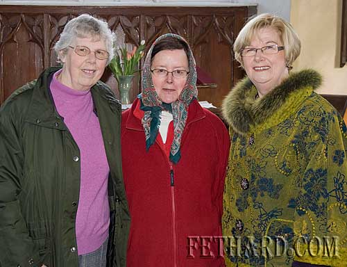 Photographed at the Famine Lunch at Magorban Church are L to R: Bronwen Carling, Jane Grubb and Margaret Kingston