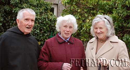 Photographed at the May Procession in Fethard L to R: Fr. John Meagher OSA, Goldie Newport and Anna Henehan.