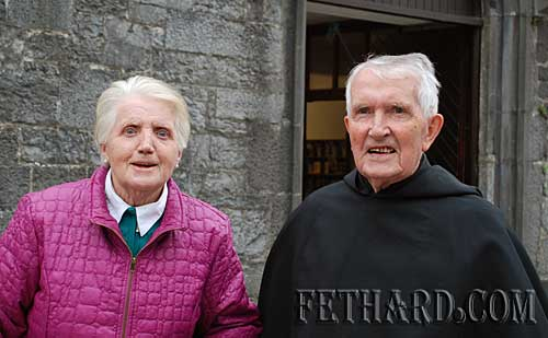 L to R: Sarah Murphy and Fr. John Meagher OSA