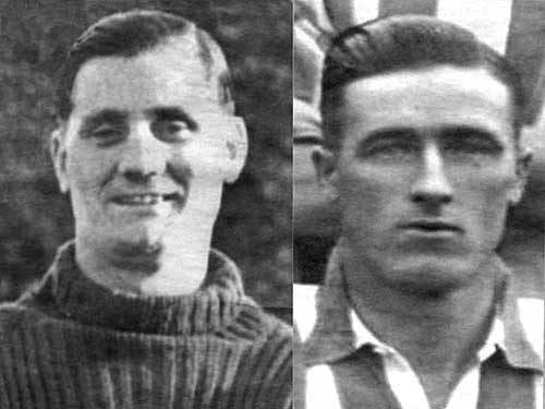 Brothers George (left) and Con Moulson, both Irish International soccer players whose mother was Bridget Dahill from Fethard, Co. Tipperary
