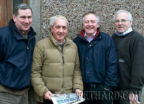 Photographed at the New Year's Day Meet of Tipperary Foxhounds in Fethard are L to R: Willie Quigley, Michael Croke, Andrew O'Riordan and Waltie Maloney.