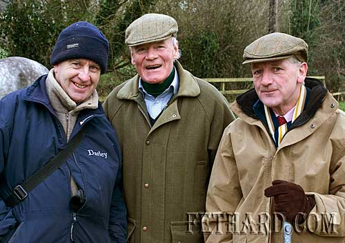 Photographed at the New Year's Day Meet of Tipperary Foxhounds in Fethard are L to R: John Kenrick, Mick Webb and Pat O'Donnell