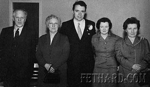L to R: Bert and Ciss Newport, Tony and Mary Newport (Kenny) Maggie Kenny. 1958.