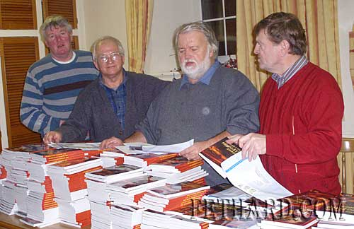 Helping with packing and posting of the Fethard Emigrants' Newsletter to Fethard & Killusty emigrants throughout the world on the 30th December are L to R: Rory Walsh, Johnny Burke, Brendan Kenny and Brud Roche.