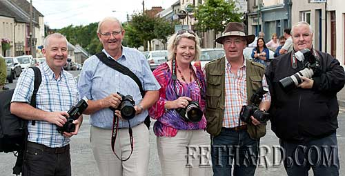 Some of the many photographers who came to Fethard Medieval Festival to avail of the photo opportunities on the day. L to R: Mick Bolger (Clonmel Camera Club), Jim Freeman (Thurles Camera Club), Sarah Morris (Thurles Camera Club), Jim Troy (Thurles Camera Club), and Eamon Brennan (Thurles Camera Club).