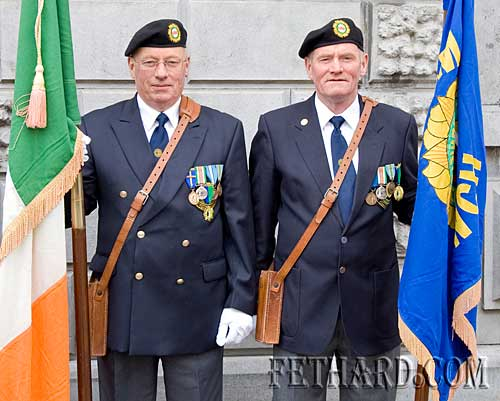 Pat McGarry and Tony McGarry taking part in the St. Patricks Day Parade under the ONE banner