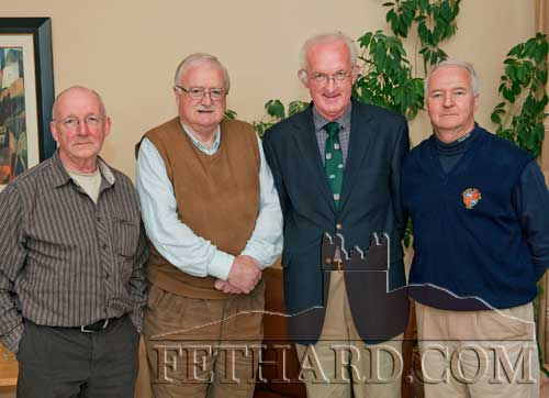 Celebrating the 50th anniversary of their Leaving Certificate are past pupils of the Patrician Brothers who recently met up again in Fethard. L to R: Damien McLellan, Paddy Lonergan, Tommy Healy and Tom Burke.