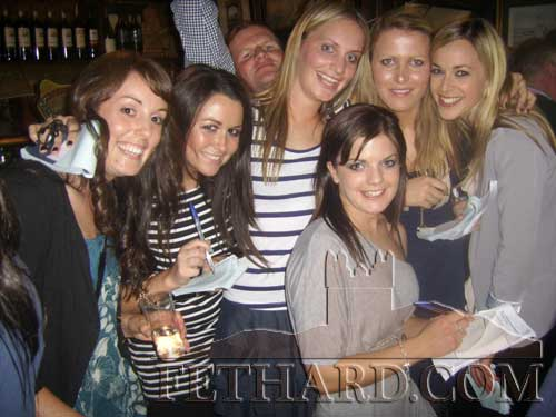 The race night 'Niallettes' — the ladies who collected the betting money on the night photographed in McCarthys