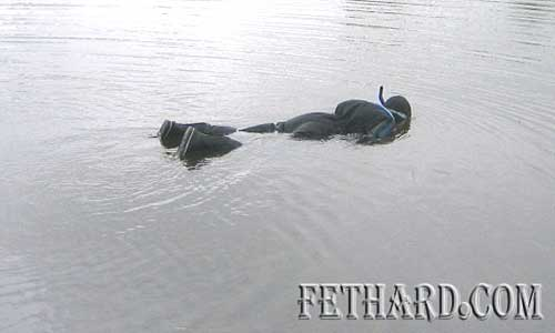 Fishery Board diver checking water for fish