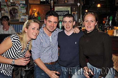Photographed at McCarthy's are L to R: Lucy Foster, David Keoghan, Wayne Lordan and Kinvara Vaughan.