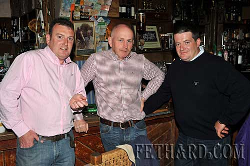Photographed in McCarthy's are L to R: Barry Connolly, Miceál Maher and Richard Hayes.