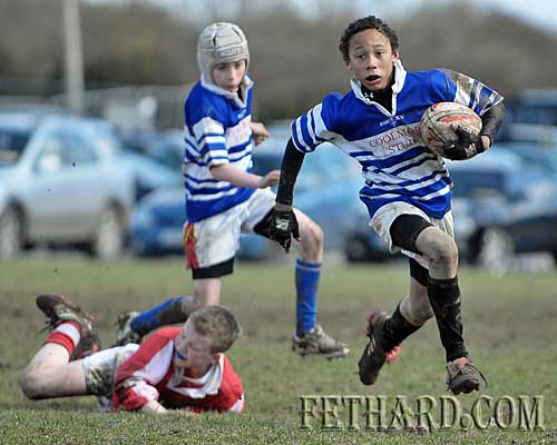 Fethard's Darren Prout glides past the Cashel defence during the Under 13's win at home on Sunday 21st March. (photos by Kieran Butler)