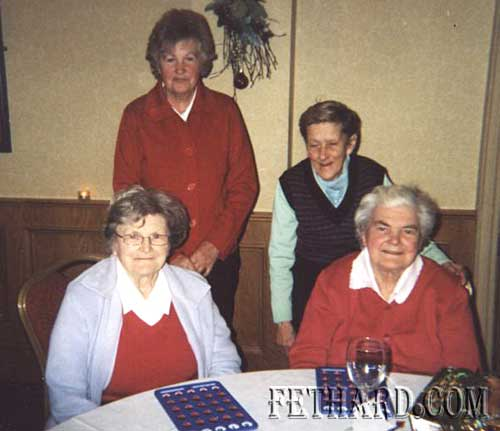 Mary Harrington, Johanna Bradshaw, Essie Corbett and Margaret Keane photographed at the Annual Senior Citizens' Club party