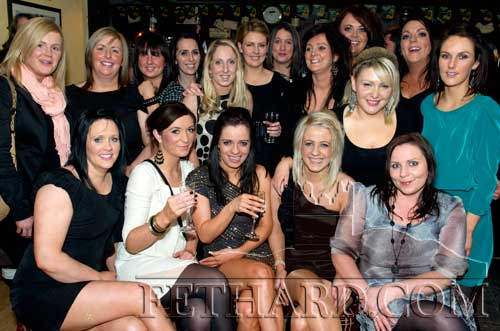 Sandra Maher (front centre) celebrating her 30th birthday at a surprize party organised by her friends in Butlers Sports Bar last weekend. Sandra is secretary of St. Rita's Camogie Club in Fethard.