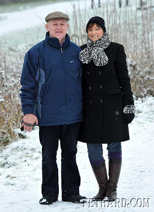 Gerry and Mary Fogarty, Cashel Road, Fethard, enjoying a stroll in the snow