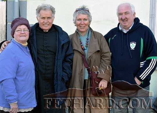 Actor Martin Sheehan photographed with Anne Gleeson (left) and Anne Dorley, sister of Michael Dorley who wrote the book 'Stella Days', and Seanie Egan who attended the opening of the original Stella Cinema in Borrisokane in the 1950s. Martin Sheehan's mother comes from Borrisokane.