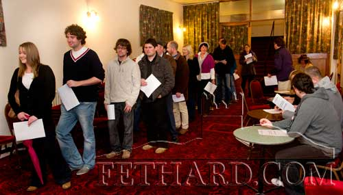 Fethard Ballroom on Thursday, November 2, where hundreds came from all over Tipperary to audition for parts in 'Stella Days'