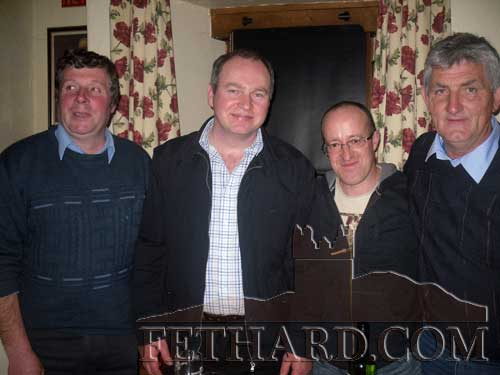Runners up in the Table Quiz at The Castle in aid of South Tipperary Hospice L to R: T.J. Sheehan, Michael Fitzpatrick, James St. John and Tom Kearney