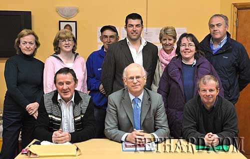 Mr Frank Donaldson, Tourism & Heritage Consultancy, photographed in Fethard to discuss the preparation of a three-year-plan for Fethard Tidy Towns. The meeting was held in the Tirry Community Centre. Back L to R: Ann Cooney, Rosemary Purcell, Tom Tobin, Cllr. Jimmy O'Brien, Fionnuala O'Sullivan, Edwina Newport, Ger Manton. Front L to R: Joe Keane, Frank Donaldson and Brian Sheehy. Also in attendance were Cllr. John Fahey, Rosemary O'Donnell and Joe Kenny.