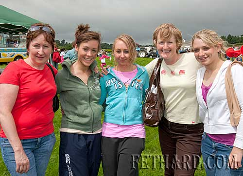 Coolmoyne and Moyglass Vintage Club Family Day L to R: Mairead Walsh, Elizabeth Kennedy, Fiona Walsh, Mary Maher and Catherine Maher
