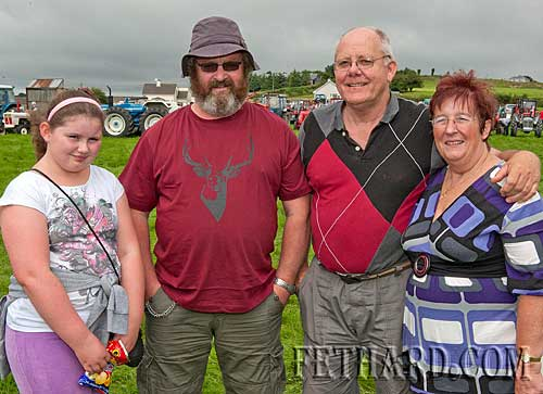 Coolmoyne and Moyglass Vintage Club Family Day L to R: Niamh Harrington, Eamon Keane, Jim Fogarty and Jenny Fogarty