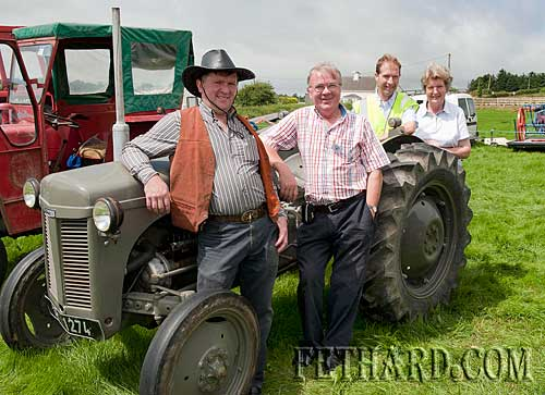 Coolmoyne and Moyglass Vintage Club Family Day L to R: Larry Ryan, Jimmy Egan, John Slattery and Betty Egan.