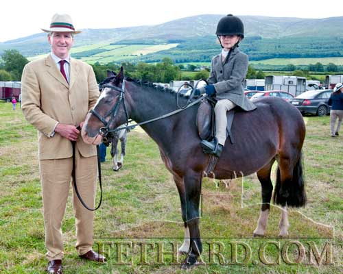 Frank Quirke with his daughter Evie on Melody