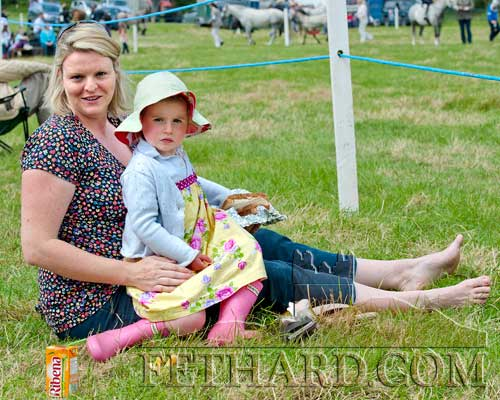 Hanna and Kate Molloy from Ballycahill enjoying the sun at Killusty Show