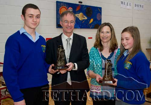 Sports Awards were presented to Gerry Horan by Mr Ernan Britton (principal), and to Jessie McCarthy by Ms Bernie O'Connor (teacher)