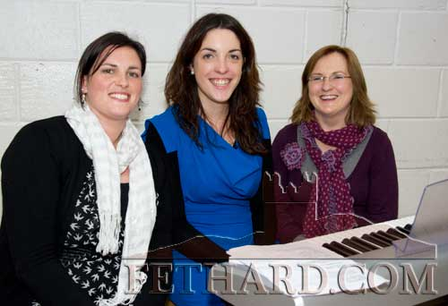 Looking after music and choir at this year's students award ceremony were L to R: Ms Orla Barrett, Ms Edel Vaughan and Ms Catriona McKeogh