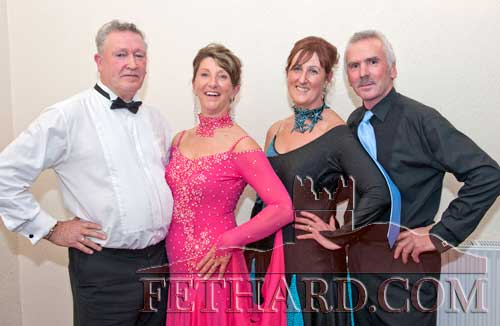Dancing at Fethard Ballroom are L to R: Gerard Hanley, Margaret Hanley (Limerick), Linda West (Kerry), and Michael John Donellan (Clare).