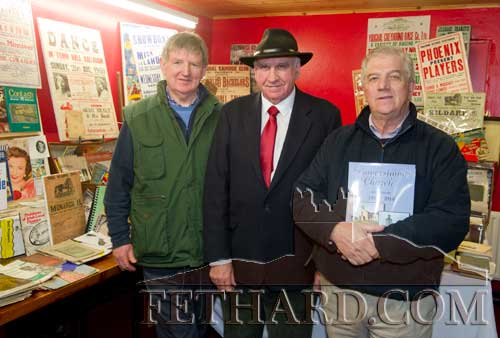 Photographed at the Tipperariana Book Fair in Fethard Ballroom are L to R: Larry Kenny, John Ryan and Larry O'Gorman