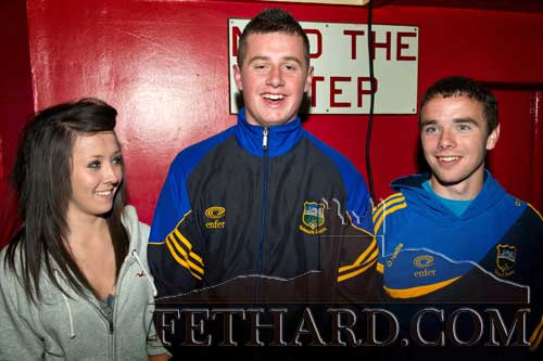 L to R: Emma Hayes, Cathal Hurley, and Dion Butler at the Boxing Night Fundraiser.