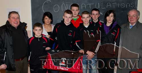 Jack Connolly photographed with some of his fellow boxers from Clonmel Boxing Club.