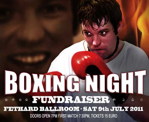 Please come along to the Boxing Night Fundraiser in the Fethard Ballroom on Saturday July 9. Contenders are fully fit and eager to provide a great night's entertainment to help raise funds for ongoing developments at Fethard Community Sportsfield. Doors open at 7pm, with the first match commencing at 7.30pm. Tickets are €15, and are available from Meat At The Square, or by contacting 087 682 4340