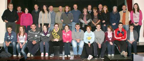 Cast of Calamity Jane.   Slievenamon Musical Society's production of Calamity Jane takes place in Cloneen Sports & Social Club from Thursday 24th to Sunday 27th November. Curtain up at 8:15pm. Tickets : Adult €15, Children €10 available at 086 3161882 ( 11am to 2pm) and at 087 3283074 ( 6 to 9pm)