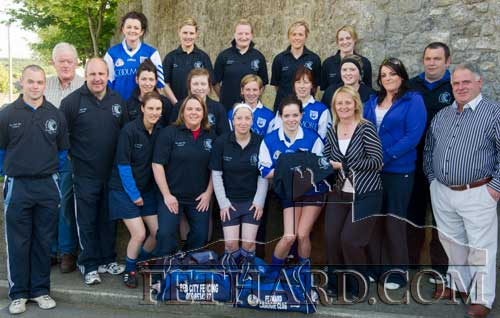 St. Rita's Camogie team and crew photographed with their new strip before playing the Junior County Final against Silvermines on May 22. This time St. Rita's were unlucky but promise to be back in full spirit for the championship.