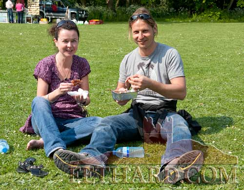 Photographed at the Spring Fayre at Clonacody House are L to R: Tara Kirk and Dirk Fesser