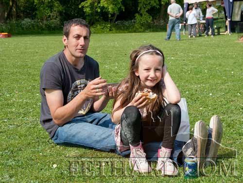 Photographed at the Spring Fayre at Clonacody House are L to R: Tommy and Aoibhe Corcoran