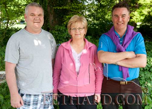 Photographed at the Spring Fayre at Clonacody House are L to R: Eddie Trehy; Marie Leahy and Michael Leahy